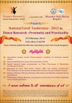 National level conference on Dance Research on 15 February 2013 at Bengaluru