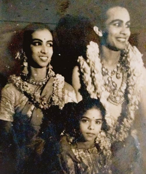 Young Mrunalini with Ram Gopal and Baby MK Saroja.