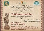 Dutikarma prakasha - textual research based dance production